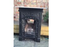 Victorian cast iron original fireplace
