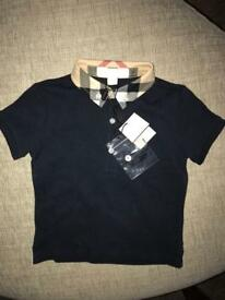 Brand new Genuine Burberry polo shirt