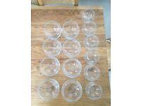 Glass bowls / wedding vases