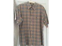 Men's large Burberry short sleeve shirt
