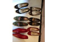 Ladies shoes 6 Pairs size 3&4