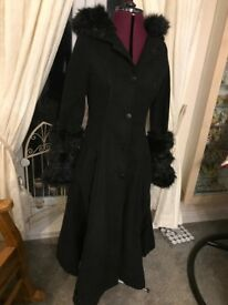 Long Black Steampunk Coat by Saisai sz 8-10