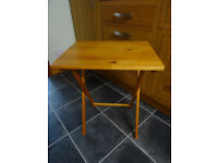 Small Folding Wooden Table