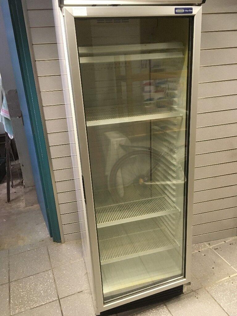 Upright Single Glass Door Drinks Milk Display Fridge Chiller In