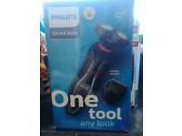 Philips S720/17 Series 1000 Click and Style Shaver/Beard Trimmer in One ***New****