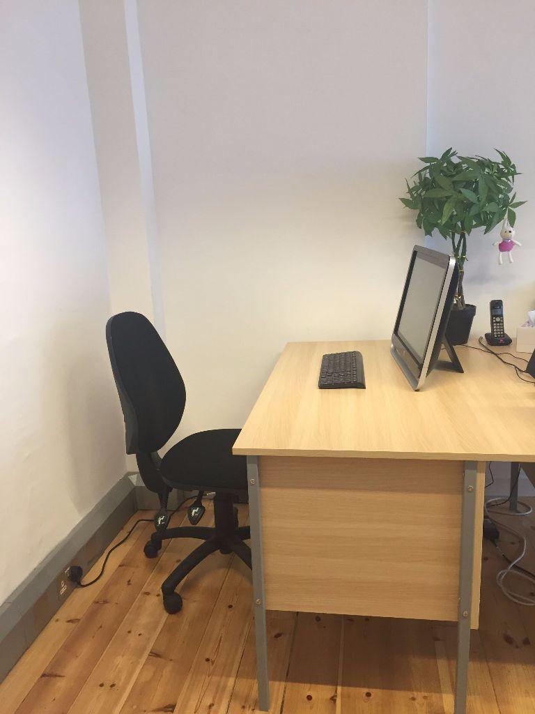 Nova Contract Rectangular H Leg Single Pedestal Desks