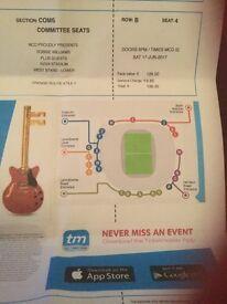 2 Robbie Williams seated tickets for Saturday night Aviva stadium