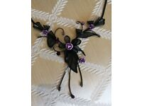 Black and purple dressy necklace