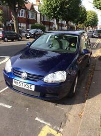 2007 Volkswagen Golf 1600 FSI. 81000 miles. Full history. Metallic blue. 5 Doors. Manual. Petrol