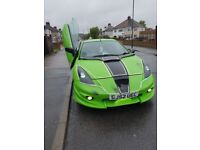 RARE JDM IMPORT TOYOTA CELICA 2002 74,000MILES AUTOMATIC TIPTRONIC MODIFIED VIELSIDE KIT, GULL WING