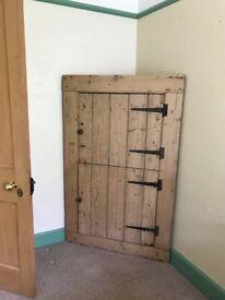 Antique pine corner unit