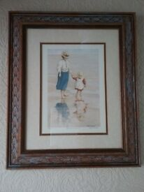 PICTURES FRAMED PRINTS VARIOUS BY FRANK RUDDOCK, DAVID COX, TOMLINSON