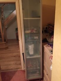 IKEA bathroom cabinet in excellent condition, 940*40*40cm. White with glass door. £30
