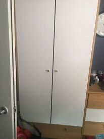 Wardrobe, 2x chest of drawers bed said cabinet and tall drewers