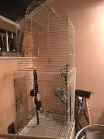 Beautiful white extra large bird cage