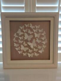 John Lewis paper cut butterfly framed picture