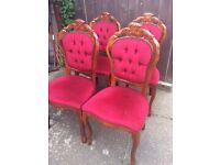 10 x italian / french rococo style dining / salon chairs