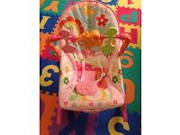 Fisher Price Infant to Toddler Rocker / Bouncer in Pink Bunnies - Great Condition