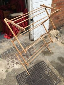 lovely vintage wooden clothes airer in good condition