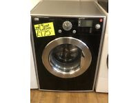 LG 8KG DIGITAL SCREEN WASHING MACHINE IN BLACK