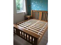 Solid Oak Kingsize Bed Frame