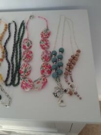 Bundle of 12 hand made necklaces