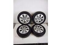 Honda Accord MK7 Alloy Wheel & Tyre Set Of 4 205/55R16 6.5J ET55 Ref 50