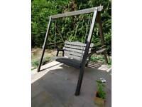Wooden Garden Swing seat and cushions