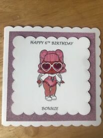 Personalised Handmade LOL surprise Doll card