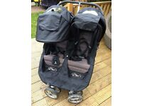 Baby Jogger City Double Buggy plus Carrycot for newborn