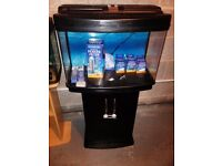 60 litre fish pod fish tank with original stand