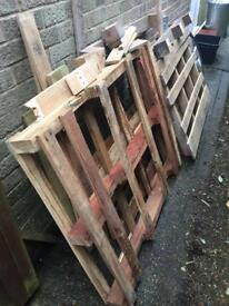 Assorted wooden pallets/wood