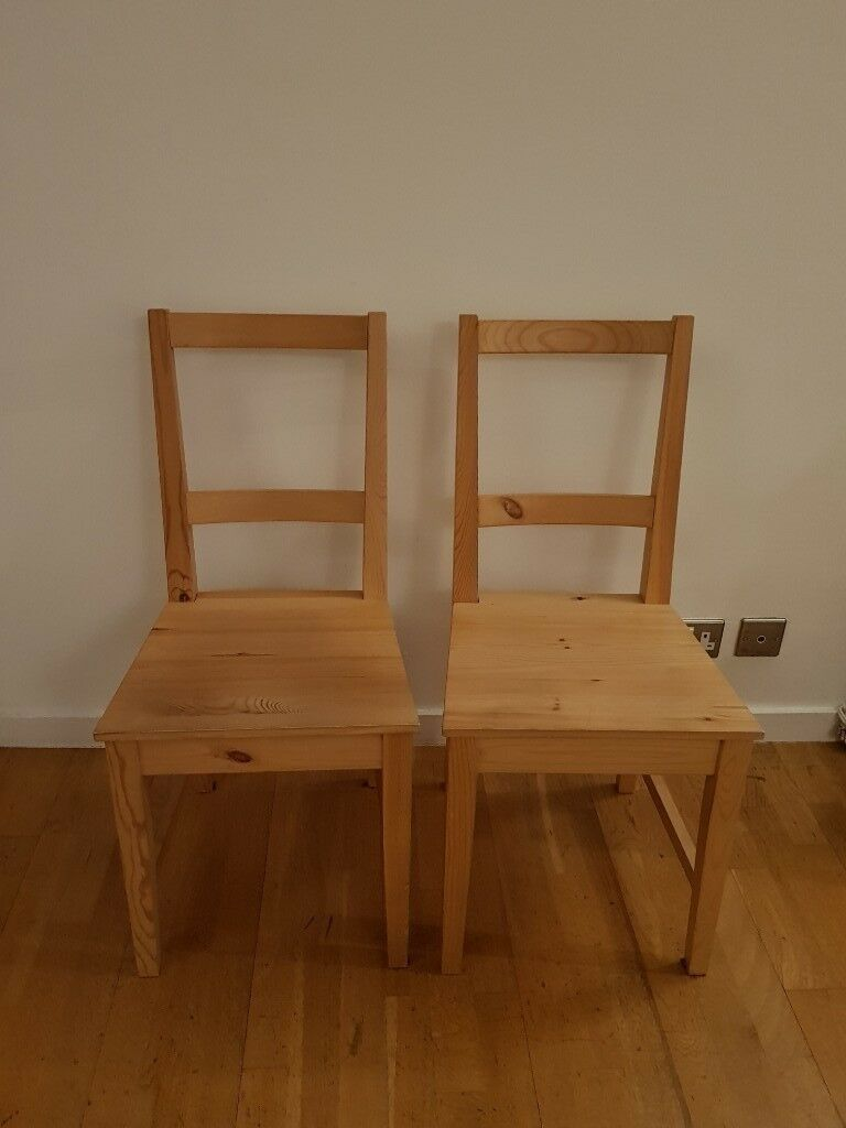 Ikea wooden chairs x2