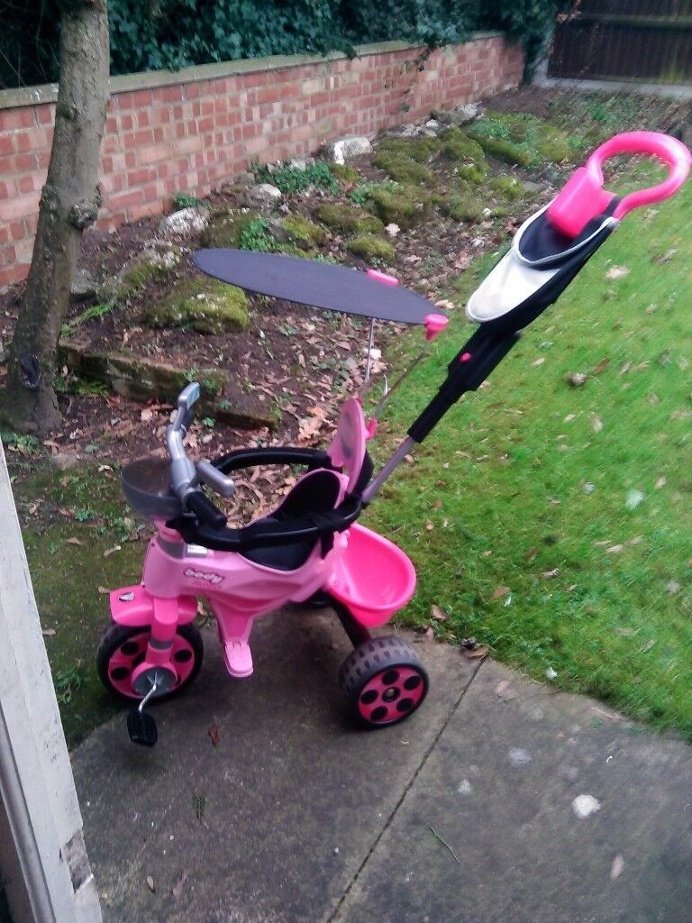 Avigo body trike in pink & black age 9 to 36 months