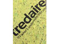 1 roll of tredaire carpet underlay 11mm thick