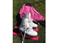 White mystique ice skates size 3 1/2 (fits approx 1 1/2) £40