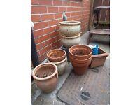 9 plant pots