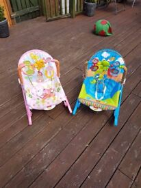 Fisher-Price Vibrating Bouncer x2 (Hammock Grow with Me Rosa)