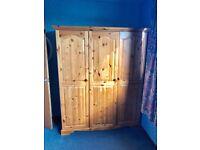 3 door wooden wardrobe