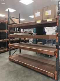 Uprights, crossbars and shelving