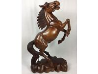 Large Horse Wooden Statue - Huge Stallion Figure - See Delivery