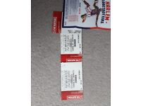 100% GENUINE STERIOPHONIC TICKETS . MOTORPOINT ARENA CARDIFF.