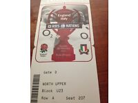 Two England six nations rugby tickets