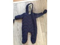 Ted baker baby boy snowsuit 6-9 months