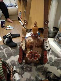 Indian horse hair flasks