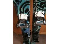 Skis and bindings