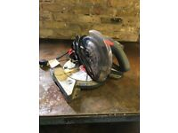 Performance compound mitre saw mains powered
