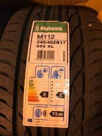 2 X BRAND NEW TYRES MOHAWK 245/40Y17 95 EXTRA LOAD HIGH PERFORMANCE TYRE JOBLOT BARGAIN L@@K