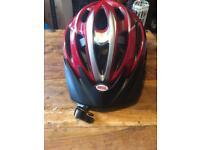 Bell bike hat in red