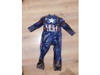 Childrens captain america costume